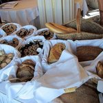 Breads, pastries and jams