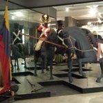 Dentro do museu de Simon bolivar