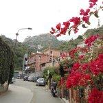 Outside Soleado looking up to Castelmola