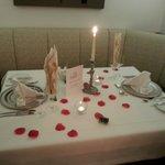 Das mitgebuchte Candle-Light-Dinner