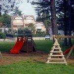 playground in front of the Villa Baissero