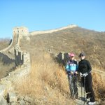 Great Wall hiking with Jean