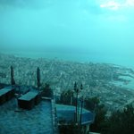 View of Jounieh bay from restaurant terrace