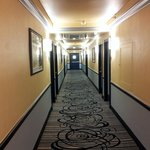 Clean corridors; well lightned; pleasant temperature