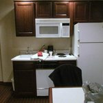 there is even a dish washer.There was cookware and dinnerware.