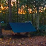 Autumn sunrise at my one-man camp