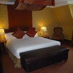 bedroom area in suite