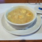 My bowl of clam chowder was great, server was great. This place is busy and it's a good mixed cr