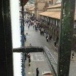 vista da Plaza de Armas da janela do hotel