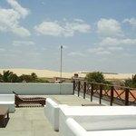 La terraza con vista a las dunas