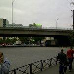 Llegando desde el metro al hotel
