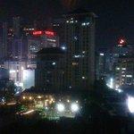 ホテルからの夜景です。