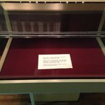 Empty display case (for GW's bible)
