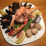 Seafood platter as starter