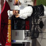 """""""The Smiling Chef"""" Is Ready To Serve YOU!!! The Entrance of """"Peter's Gourmade Grill"""" in Tustin"""