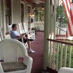 my husband enjoyed the beautiful front porch