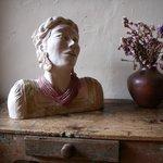 One of Victoria's sculptures