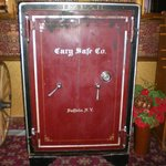 antique safe in the lobby