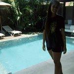pool area in villa