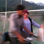 Ram Jhula bridge in Rishikesh India