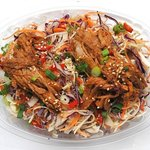 Noodle Crunch Salad with Red Dragon Pork
