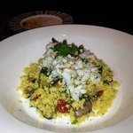 calamari and couscous appetizer