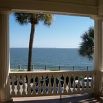 View of Charleston Harbor from second floor balcony