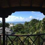 Der Ausblick von der Terrasse/Balkon