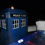 West Usk hot tub and Tardis