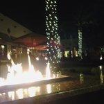 Wigwam Bar at night.