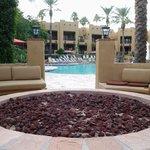 Oasis pool fire pit