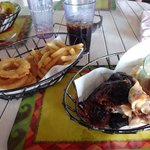Jerk chicken at The Beach Grill