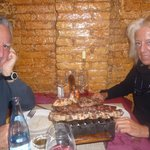 My parents with the parrillada