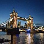 Tower Bridge at nighttime
