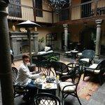 beautiful enclosed breakfast terrace