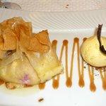 Aumônière de figues noires de Solliès, polenta crémeuse et glace vanille