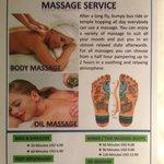 Tarif Massage Hôtel