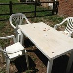 weared out garden furniture