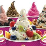 14 rotating flavors with over 50 toppings to make a different mix each time