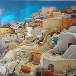 WALL MURAL OF SANTORINI, GREECE AT OPA! OPA!