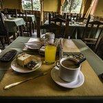 Desayuno en el hostel