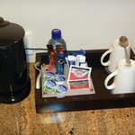coffee maker & complementary bottle of water