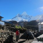Ama Dablam seen from front of lodge