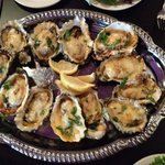 Grilled oysters. Delicious