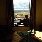 Vista do quarto do hotel.