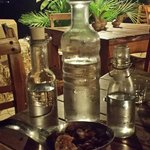 "Our ""Welcome"" karafe of raki!"