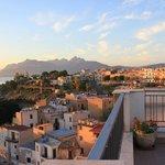 Santa Flavia at sunrise from terrace