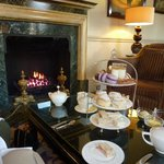 Afternoon tea in front of the fire