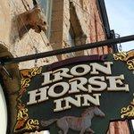 Sandstone Horse Carved Above Entry