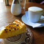 Best cheesecake and cappuccino